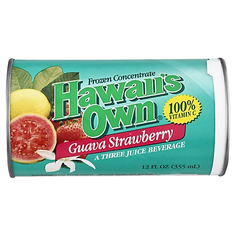 Hawaiis Own Juice Frozen Concentrate Guava Strawberry - 12 Fl. Oz.
