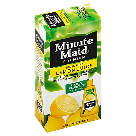 Minute Maid Juice Premium Lemon From Concentrate - 7.5 Fl. Oz.