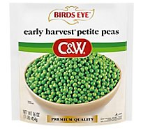 Birds Eye C&W Early Harvest Peas Petite No Salt Added - 16 Oz