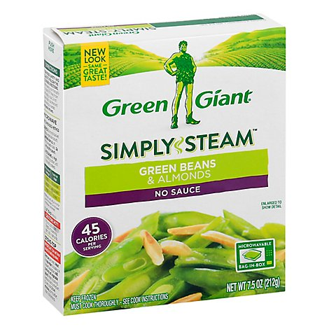 Green Giant Steamers Green Beans & Almonds - 7.5 Oz