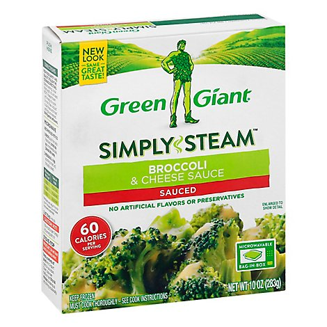 Green Giant Steamers Broccoli & Cheese Sauce Sauced - 10 Oz