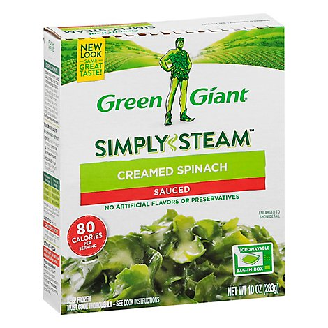 Green Giant Steamers Spinach Creamed Sauced - 10 Oz
