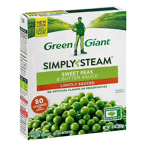 Green Giant Steamers Peas Sweet & Butter Sauce Lightly Sauced - 10 Oz