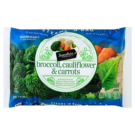 Signature SELECT Broccoli Parisienne Style Carrots & Cauliflower Steam In Bag - 12 Oz