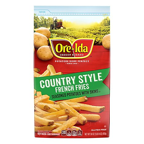 Ore-Ida Potatoes French Fried Seasoned With Skins Country Style - 30 Oz