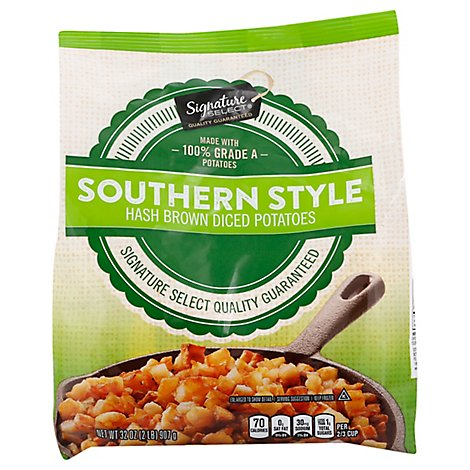 Signature SELECT/Kitchens Potatoes Hash Browns Diced Southern Style - 32 Oz