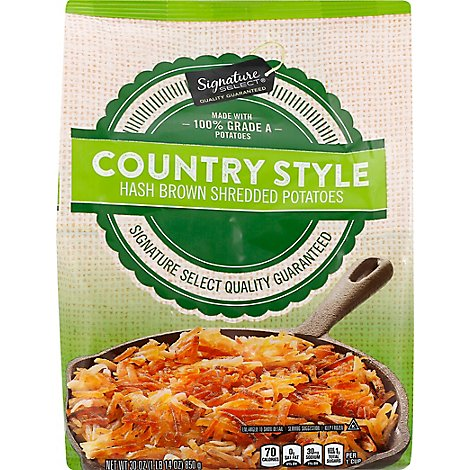 Signature SELECT Potatoes Shredded Hash Browns Country Style - 30 Oz