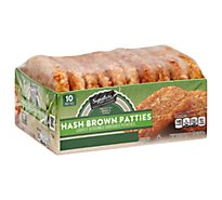 Signature SELECT Hash Browns Patties Shredded Potatoes Lightly Seasoned 10 Count - 22.5 Oz