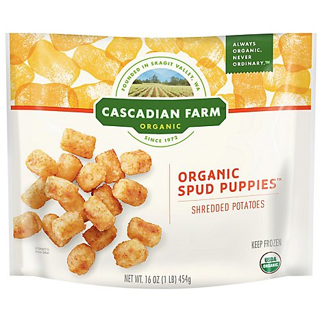 Cascadian Farm Organic Spud Puppies Potatoes Shredded - 16 Oz