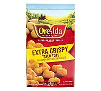 Ore-Ida Potatoes Shredded Tater Tots Seasoned Extra Crispy - 28 Oz