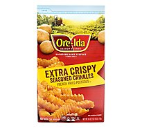 Ore-Ida Potatoes French Fried Seasoned Crinkles Extra Crispy - 26 Oz