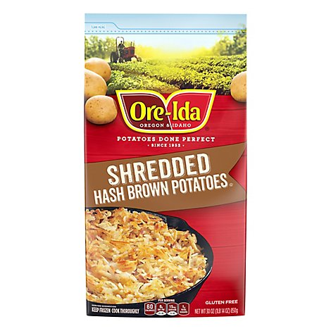 Ore-Ida Potatoes Hash Brown Shredded Gluten Free - 30 Oz