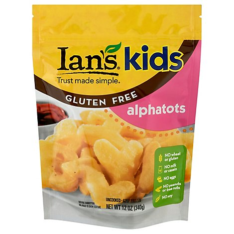 Ians Kids Alphatots Potatoes Shaped Letters Gluten Free - 12 Oz