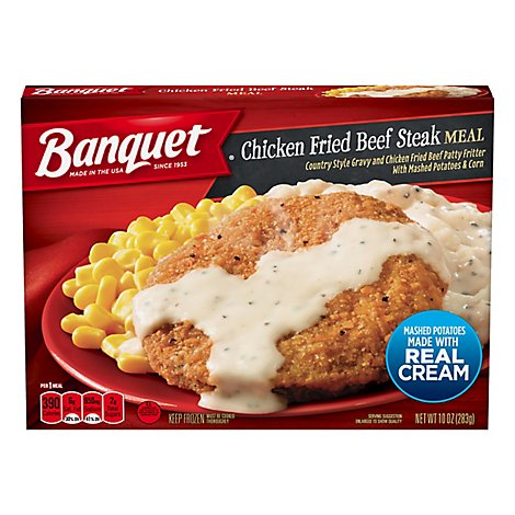 Banquet Meal Country Fried Beef Patty - 10 Oz