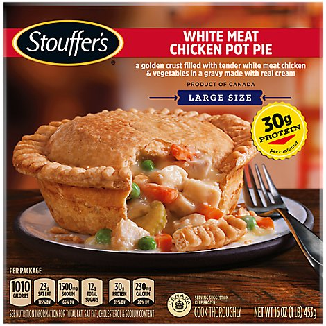 STOUFFERS Satisfying Servings Meal Pot Pie White Meat Chicken - 16 Oz
