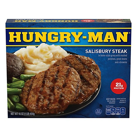 HUNGRY-MAN Frozen Meal Salisbury Steak - 16 Oz