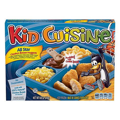 Kid Cuisine Frozen Meal All Star Chicken Breast Nuggets - 8.8 Oz