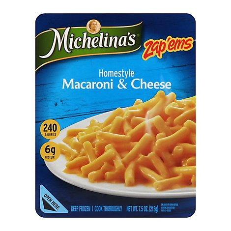 Michelinas Zap Ems Frozen Meal Macaroni & Cheese Homestyle - 7.5 Oz