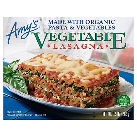 Amys Lasagna Vegetable - 9.5 Oz