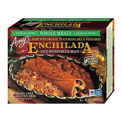 Amys Whole Meals Enchilada Dinner with Spanish Rice & Beans - 10 Oz