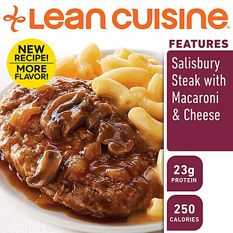 Lean Cuisine Comfort Entree Salisbury Steak with Macaroni & Cheese - 9.5 Oz