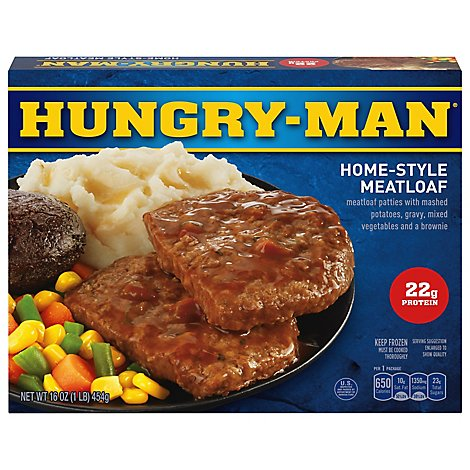 HUNGRY-MAN Frozen Meal Home-Style Meatloaf - 16 Oz