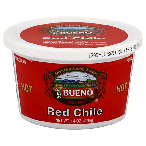 Bueno Puree Uncooked Red Chile Hot - 14 Oz