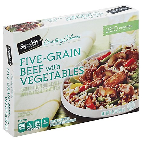 Signature SELECT Frozen Meal Five Grain Beef & Vegetables - 8.75 Oz