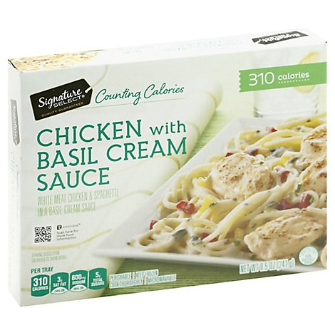 Signature SELECT Frozen Meal Chicken With Basil Cream Sauce - 8.5 Oz