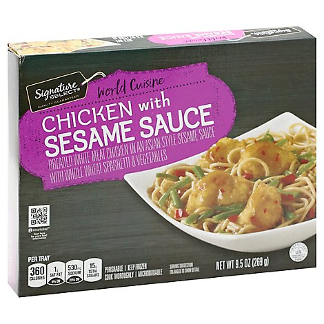 Signature SELECT Frozen Meal Sesame Chicken - 9 Oz