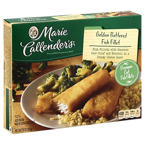 Marie Callenders Complete Dinner Battered Fish With Rice And Cheesy Broccoli - 12 Oz