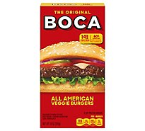 Boca Veggie Burgers All American Flame Grilled 4 Count - 10 Oz