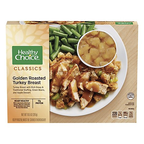 Healthy Choice Complete Meals Golden Roasted Turkey Breast - 10.5 Oz