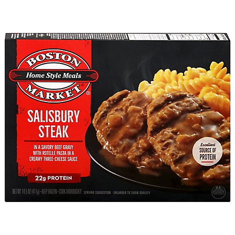Boston Market Home Style Meals Salisbury Steak in Savory Gravy with Mac & Cheese - 14.5 Oz