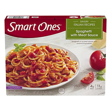 weightwatchers Smart Ones Savory Italian Recipes Spaghetti with Meat Sauce - 10.25 Oz