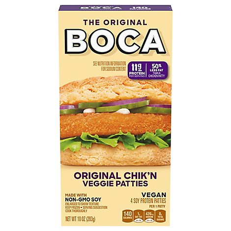 Boca Frozen Food Original Chicken Patties - 10 Oz