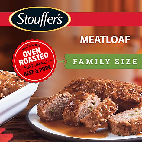 STOUFFERS Meal Family Size Meat Loaf in Gravy - 33 Oz