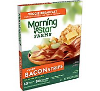 Morningstar Farms Veggie Breakfast Veggie Bacon Strips Vegetarian Box 5.25 oz