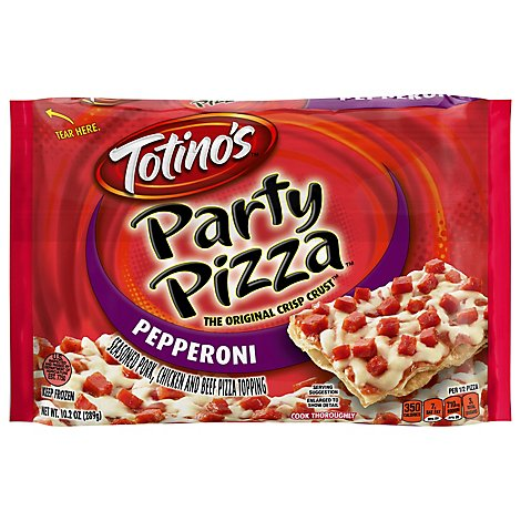 Totinos Party Pizza Pepperoni Frozen - 10.2 Oz