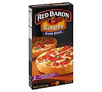 Red Baron Pizza Deep Dish Supreme Microwaveable Frozen - 12 Oz