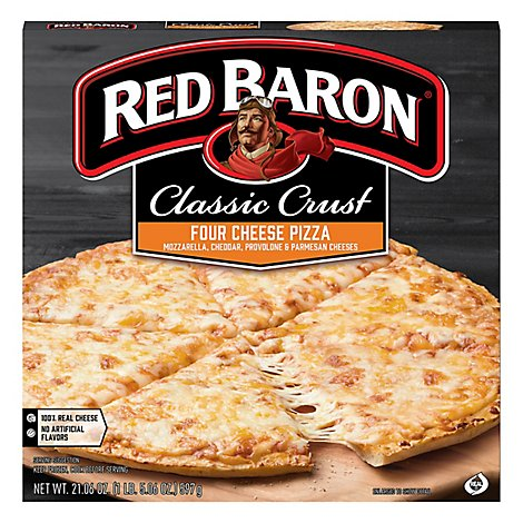 Red Baron Pizza Classic Crust Four Cheese - 21.06 Oz