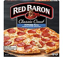 Red Baron Pizza Classic Crust Pepperoni Frozen - 20.60 Oz