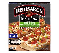 Red Baron Pizza French Bread Singles Supreme 2 Count - 11.6 Oz