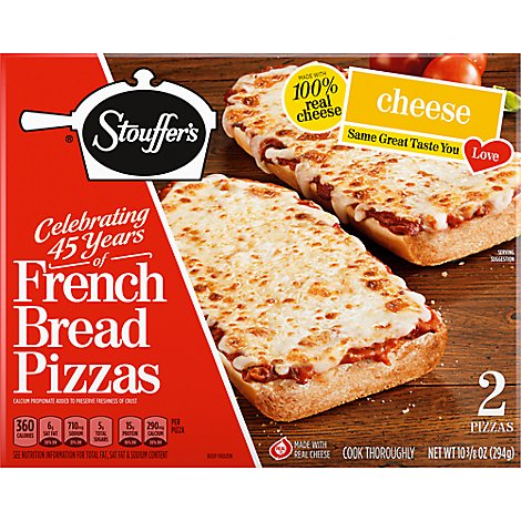STOUFFERS Pizza French Bread Cheese 2 Count Frozen - 10.375 Oz