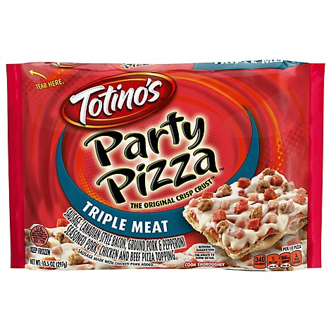 Totinos Party Pizza 3 Meat Frozen - 10.5 Oz