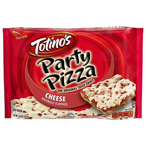 Totinos Party Pizza Cheese Frozen - 9.8 Oz