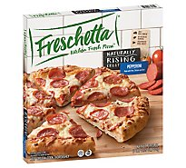Freschetta Pizza Naturally Rising Crust Signature Pepperoni Frozen - 27.16 Oz