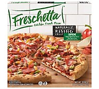 Freschetta Pizza Naturally Rising Crust Classic Supreme Frozen - 29.64 Oz