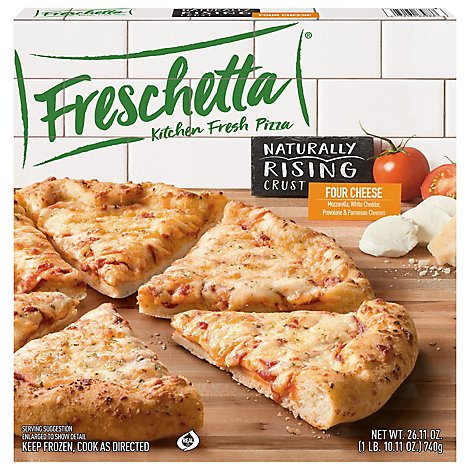 Freschetta Pizza Naturally Rising Crust 4 Cheese Medley Frozen - 25.85 Oz