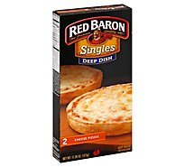 Red Baron Pizza Deep Dish Cheese Microwaveable Frozen - 12 Oz